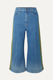 Gucci Cropped high-rise wide-leg jeans