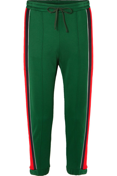 bd0ed4f94b1 Gucci. Striped tech-jersey track pants