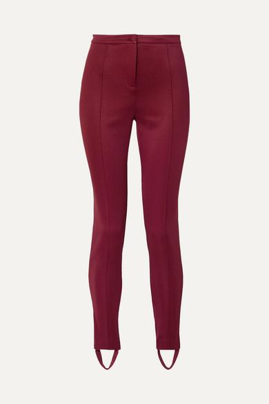 Gucci - Tech-jersey Stirrup Leggings - Claret