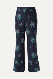 Gucci Cotton and wool-blend jacquard wide-leg pants