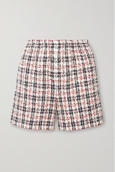 Metallic Tweed Shorts, Red