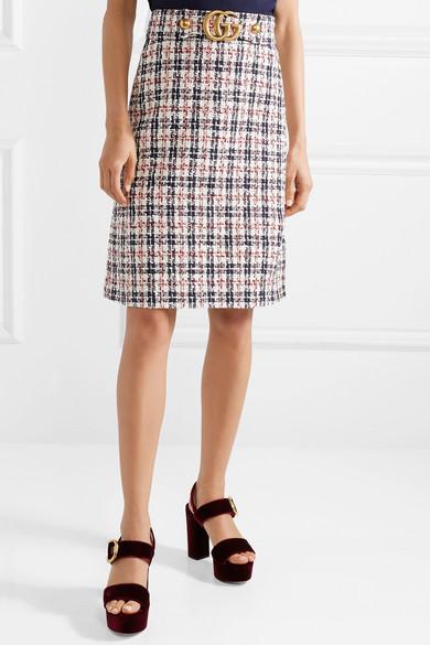 Gucci. Embellished metallic tweed skirt e19967b23f