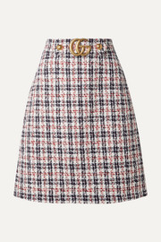 Gucci Embellished metallic tweed skirt