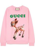 3ecb057d7e0 Gucci Printed cotton-jersey sweatshirt