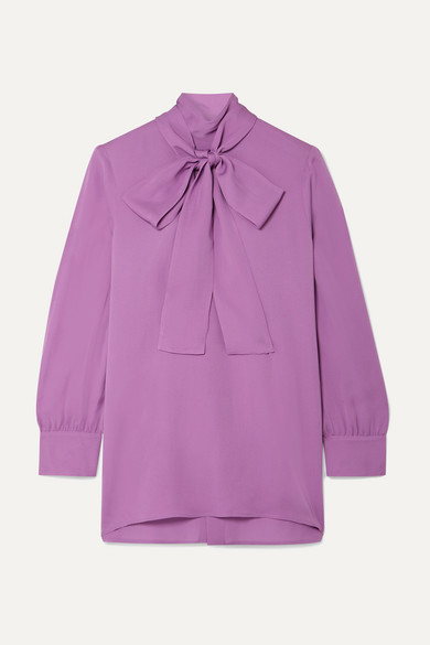 7621985b4 Gucci | Pussy-bow silk-crepe blouse | NET-A-PORTER.COM