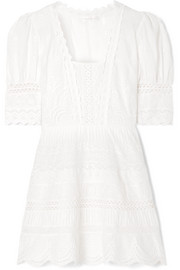 Kristen broderie anglaise cotton mini dress