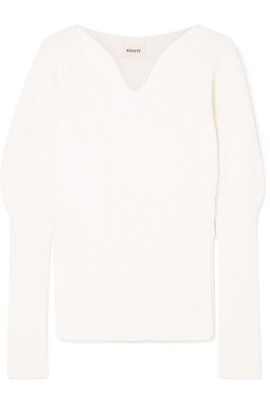 Selena Ribbed Merino Wool Sweater by Khaite