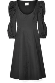 Khaite Edwinda cotton-poplin midi dress