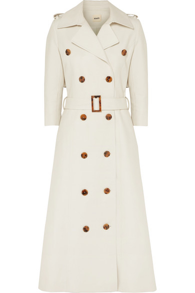 Charlotte Cotton Gabardine Trench Coat by Khaite