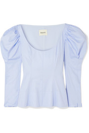 Khaite Nina cotton-poplin top