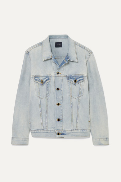 Cate Oversized Denim Jacket in Blue from STYLEBOP.com