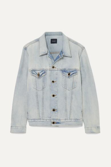 Cate Oversized Denim Jacket in Blue