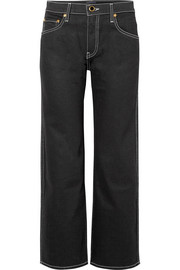 Wendell cropped mid-rise wide-leg jeans