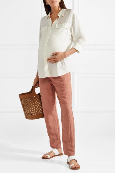 Pantalon En Lin Mélangé Venice - Rose poudréHatch De Nouveaux Styles En Ligne AAtby5d