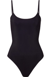 Elizabeth stretch-jersey thong bodysuit