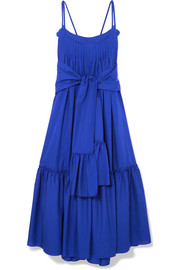 Adriadne ruffled cotton-poplin maxi dress
