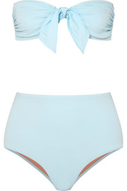 Three Graces London Jackie Bandeau-Bikini mit Knotendetail