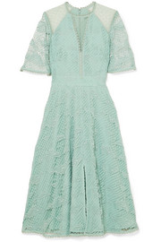 Temperley London Haze guipure lace and tulle dress