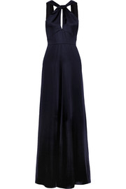 Temperley London Aviator open-back satin gown