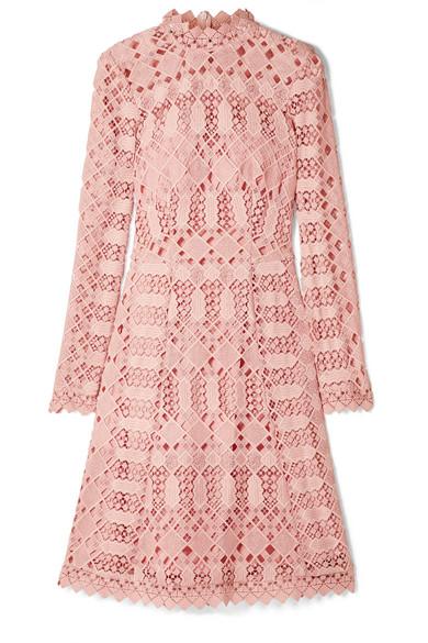 Temperley London - Amelia Guipure Lace Dress - Blush