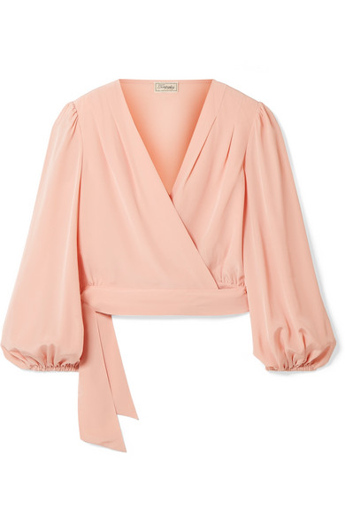 Eden Silk Crepe De Chine Wrap Top by Temperley London