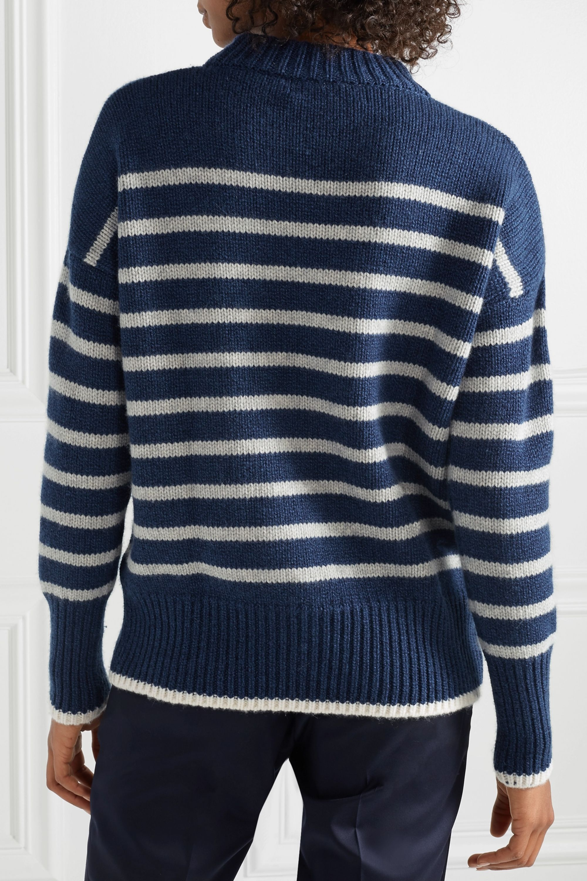 La Ligne Marin striped cashmere and wool-blend sweater