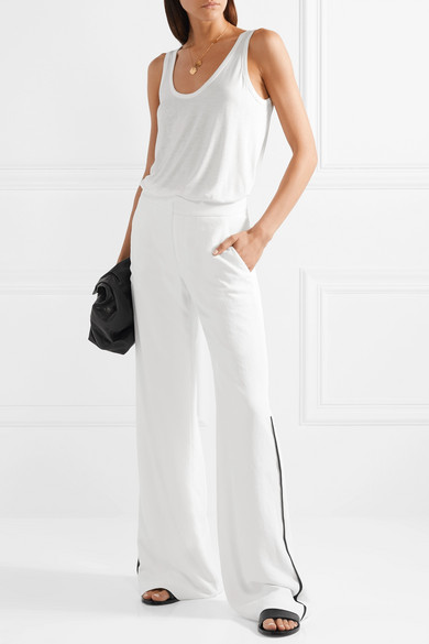 Crepe Wide Leg Trousers
