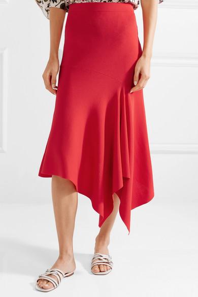 Asymmetric Stretch-ponte Midi Skirt - Red Jason Wu Grey Free Shipping Affordable 100% Original aWTyupiN