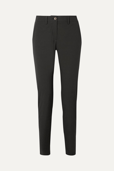 Cotton-blend poplin slim-leg pants from NET-A-PORTER