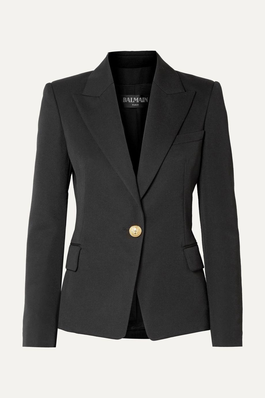 Balmain 羊毛斜纹布西装式外套