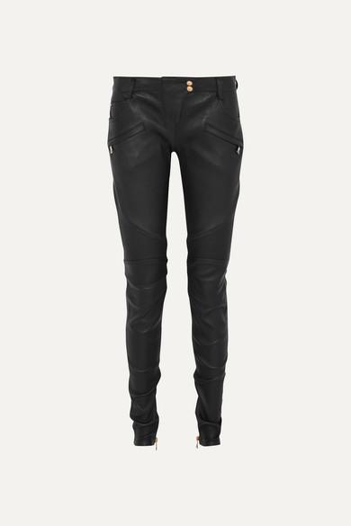 8b1e277bd0d Balmain   Ribbed leather skinny pants   NET-A-PORTER.COM