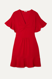 Miu Miu Ruffled cady dress