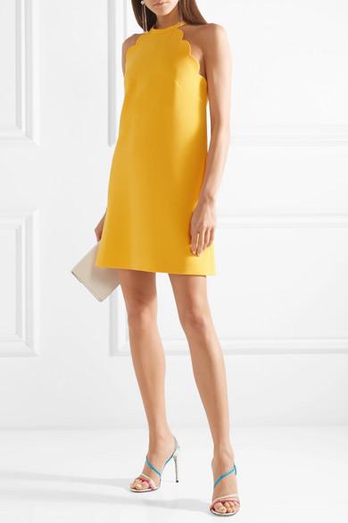 4db24db8784f0 Miu Miu   Bow-embellished scalloped cady mini dress   NET-A-PORTER.COM