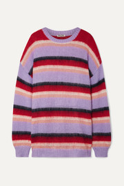 Miu Miu Oversized striped mohair-blend sweater