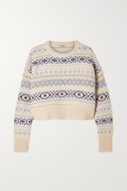 Miu Miu Cropped Fair Isle wool sweater