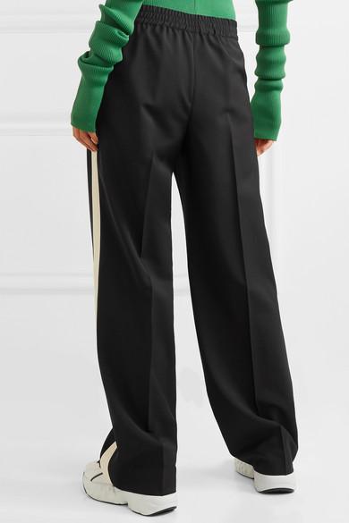 Miu Miu Pants Striped wool and mohair-blend track pants