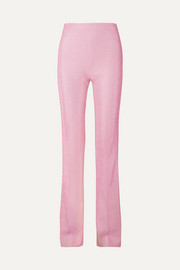 Miu Miu Metallic Lurex flared pants