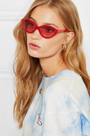 Frey cat-eye acetate sunglasses