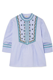 Willow embroidered cotton top