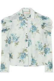 Brock Collection Tanner floral-print cotton-voile blouse