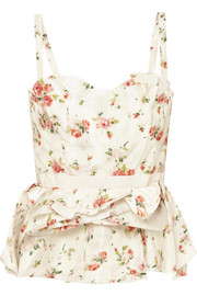 Brock Collection Tuty ruffled floral-print silk bustier top