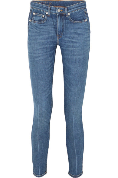 BROCK COLLECTION JAMES CROPPED HIGH-RISE SKINNY JEANS
