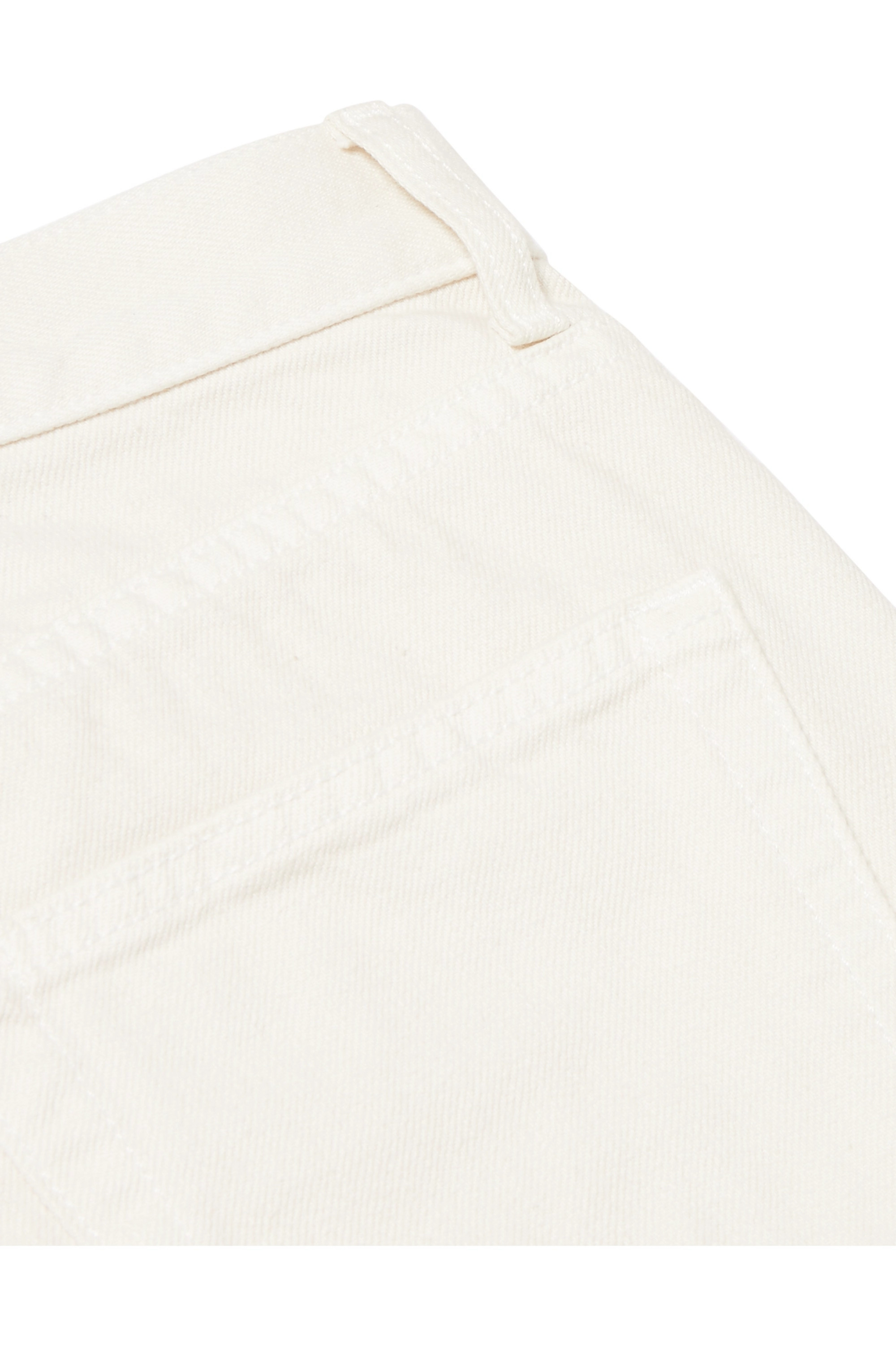 Brock Collection Wright cropped high-rise straight-leg jeans