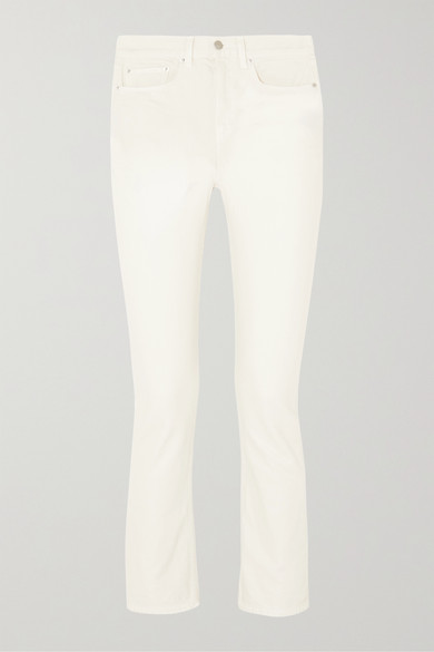 WRIGHT CROPPED HIGH-RISE STRAIGHT-LEG JEANS