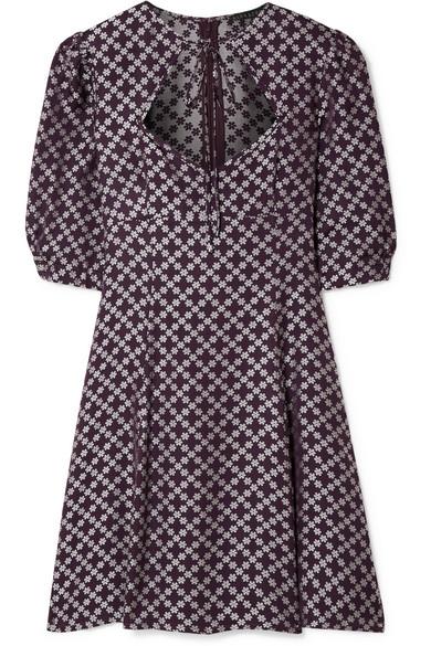 Alexachung Sweetheart Neck Dress In Purple, Dark Purple