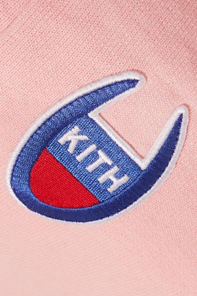 Kith + Champion Allyson Jersey-Jogginghose aus einer Baumwollmischung mit Applikationen
