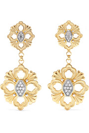 Opera 18-karat yellow and white gold diamond earrings