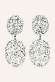 Buccellati 18-karat white gold diamond earrings