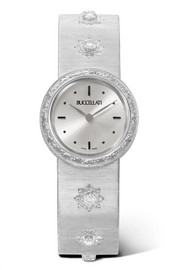 Macri 24mm 18-karat white gold diamond watch