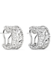 Ramage 18-karat white gold diamond hoop earrings